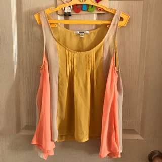 Papaya Colorblock Top