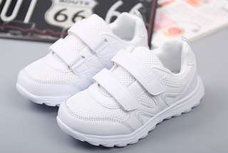 🚚 Sturdy White School Shoes - Size 38