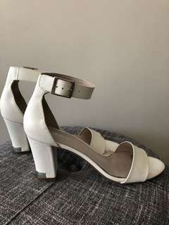 Jo Mercer - white sandals heels Size 9