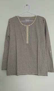 Stripe top long sleeves