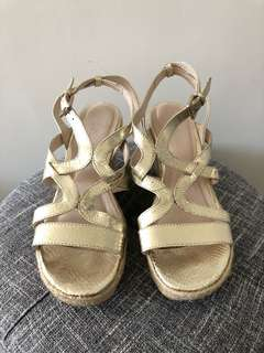 Airflex wedge sandals - Gold Metallic 9/40
