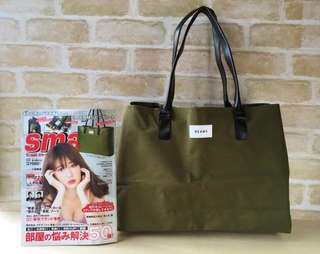 BEAMS BIG Army Green 2way Bag