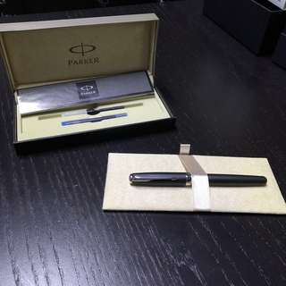 Parker Sonnet Fountain Pen - Chrome Trim - Matte Black - Medium Nib