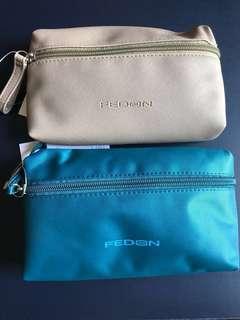 拉鍊 化妝袋 / pouch / 小袋 / 雜物袋 (約L17.5 x H10 x D3.7 cm)