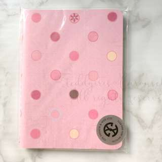 JAPAN KOREA Polka Dots Ruled Notebook Pink 波點單行間記事簿