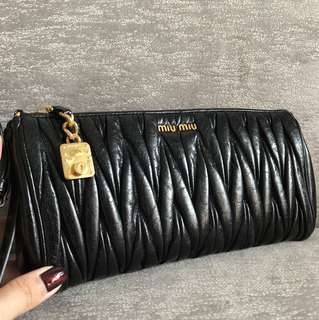 MIU MIU Leather Matelasse Clutch