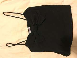 Tank top with bow detail