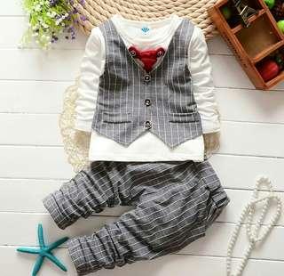 🚚 INSTOCK!! Baby boy tuxedo look