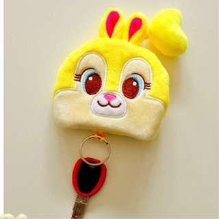 小鹿斑比邦尼兔Bunny零錢鑰匙包 鑰匙圈 迪士尼 防刮 卡通 可愛 萌 日本 原宿