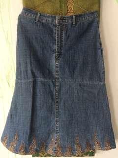 Rok jeans bordir