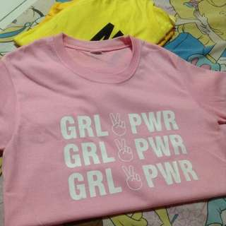 BNEW GRL PWR LIGHT PINK STATEMENT TEE