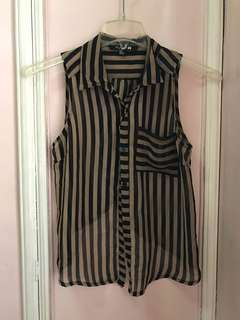 Forever 21 Striped Sleeveless Top - Size S