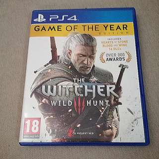 PS4 Witcher 3 GOTY Edition