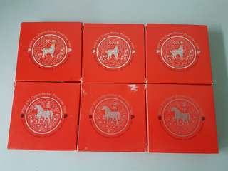 Horses2002 2003 Cupro-Nickel Proof Coin Horses and Goat