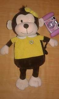 Monkey Stuffed Toy Backpack