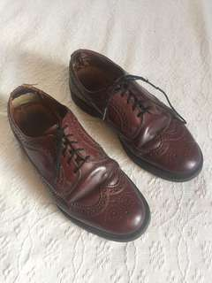 Dr Martens cherry red brogues