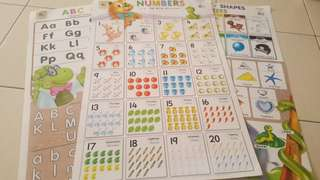 Educational wall chart (3 for RM18)