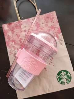 Starbucks Tumbler with paperbag + stickers (Free shipping)