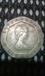 1982 ELIZABETH II 20 PENCE