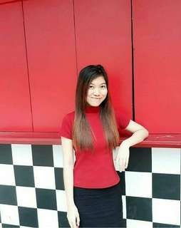 Blouse (red turtle neck)
