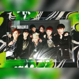 BTS - Dark and Wild Group Photocard