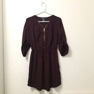 Dress with tie sleeves, size M