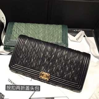 Chanel 最新两折钱包