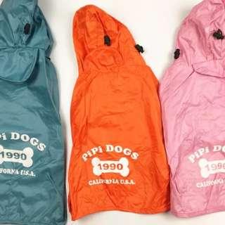 狗狗雨衣Orange Colour,全新購自日本PiPi Dog,胸52-60cm 身長40cm,包平郵