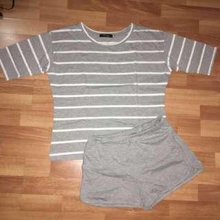 Gray sleepwear