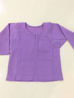 Baju Melayu Baby in Lilac Purple