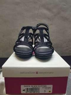 Naturalizer Danya Black Glitter Sandals