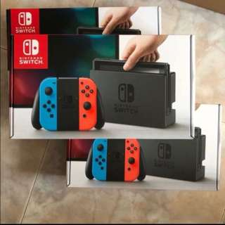 Nintendo Switch local set with 1 year warranty Neon and Red