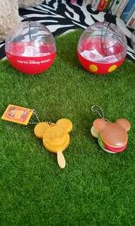 日本迪士尼米奇漢堡冰棒造型吊飾