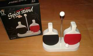 Pingpong Racquet Spice Stand for Pepper and Salt