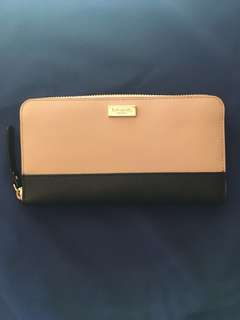 Kate Spade almond and black wallet