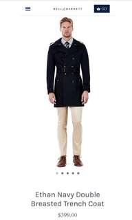Bell and barnett navy trench coat