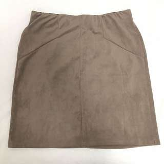 Faux suede skirt, size M