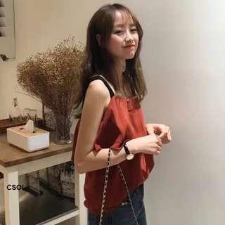 Korean style vest top