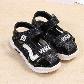 Solid Color Velcro Summer Sandals For Baby Boy