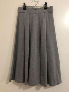 灰色A字裙