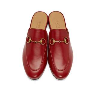 Authentic Gucci Princetown Backless Loafers