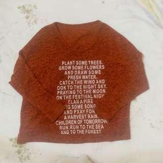 🚚 英文字 微短版 飛鼠袖 上衣👍👍#一百元好物