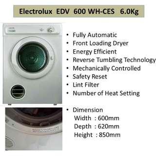 Electrolux EDV600 Dryer
