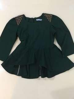 THEJELLIKIDS Emerald Green Baju Kurung