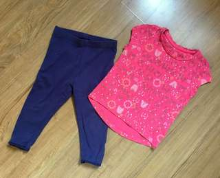Mothercare Legging & Top Set