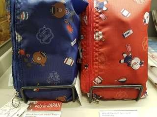 日本限定Line Brown熊大機師造型可摺合旅行環保袋