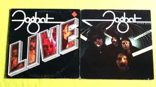 FOGHAT .  stone blue / live (buy 1 get 1 free )  vinyl record