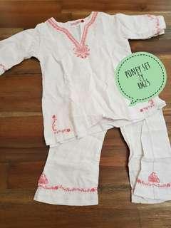 Preloved baju raya - kurta set for girls