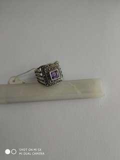 925純銀紫晶鑲礦石