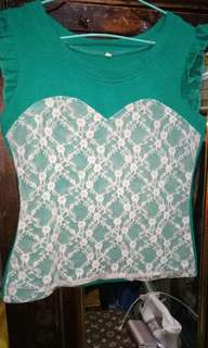 sleeveless knitted lace